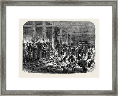 The British Expedition To Abyssinia Preparing Compressed Framed Print by English School
