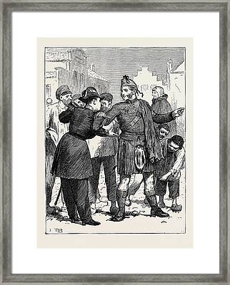 The British Volunteers In Ghent Incomprehensible And Curious Framed Print