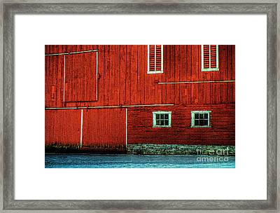 The Broad Side Of A Barn Framed Print by Lois Bryan