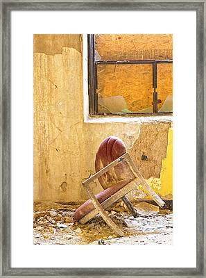The Broken Chair Framed Print by Carolyn Fox
