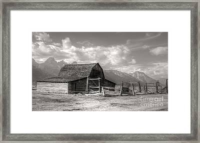The Broken Fence Framed Print by Kathleen Struckle