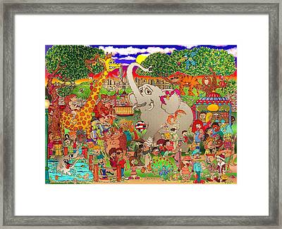 The Bronx Zoo Uncaged Framed Print by Paul Calabrese