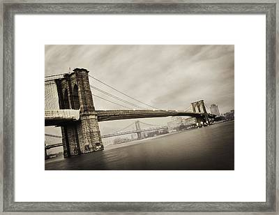The Brooklyn Bridge Framed Print by Eli Katz