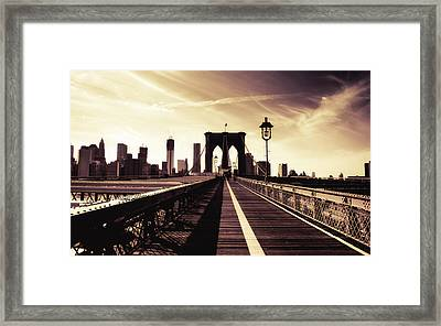 The Brooklyn Bridge - New York City Framed Print by Vivienne Gucwa