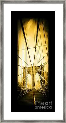 The Brooklyn Bridge New York Framed Print by Edward Fielding
