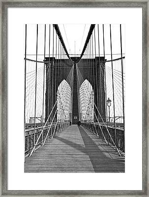 The Brooklyn Bridge Framed Print by Underwood Archives