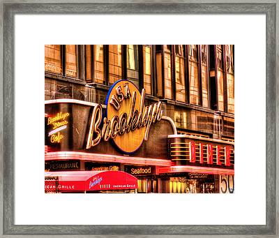 The Brooklyn Diner And Cafe 001 Framed Print