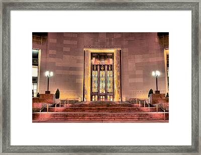 The Brooklyn Public Library Framed Print by JC Findley