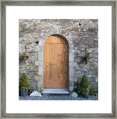The Brown Door Framed Print by Dave Byrne