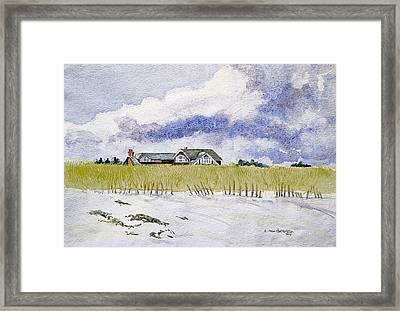 The Brown House On East Beach Framed Print