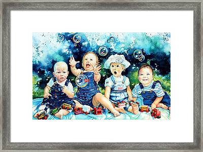The Bubble Gang Framed Print