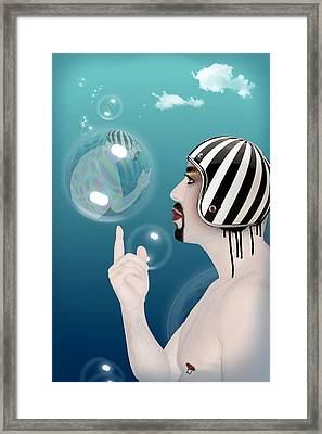 the Bubble man Framed Print by Mark Ashkenazi