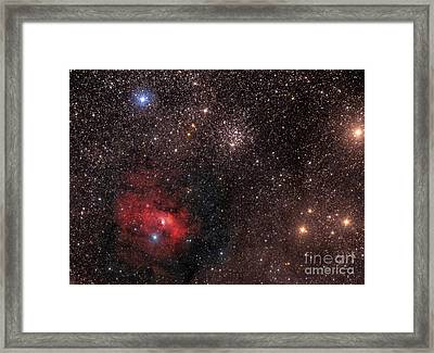 The Bubble Nebula, An Emission Nebula Framed Print by Roberto Colombari
