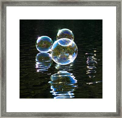 The Bubble Worlds Framed Print