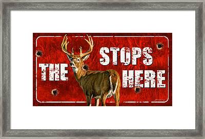 The Buck Stops Here Framed Print by Bruce Miller