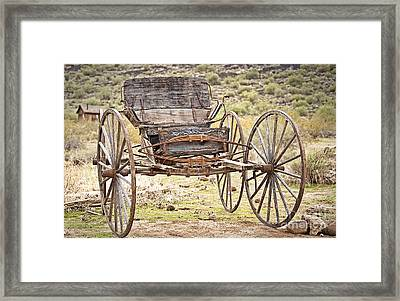 The Buckboard Bounce Where West Is West Framed Print by Lee Craig