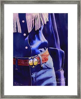 The Buckle Framed Print