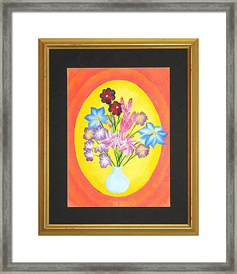Framed Print featuring the painting The Bud Vase by Ron Davidson