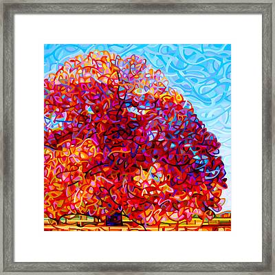 The Buddha Tree Framed Print by Mandy Budan