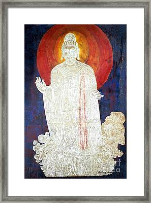 Framed Print featuring the painting The Buddha's Light by Fei A