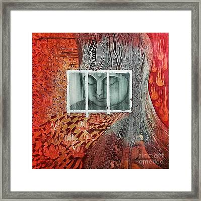 The Buddhist Color Framed Print by Fei A