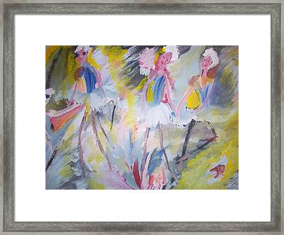The Budget Ballet Company Framed Print by Judith Desrosiers