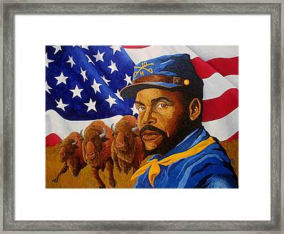The Buffalo Soldier Framed Print by William Roby