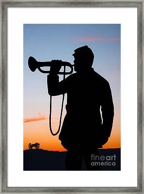The Bugler Framed Print by Karen Lee Ensley