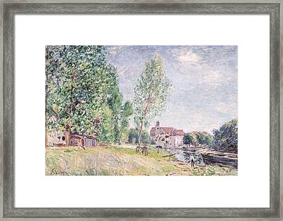 The Builder's Yard At Matrat Moret-sur-loing Framed Print by Alfred Sisley