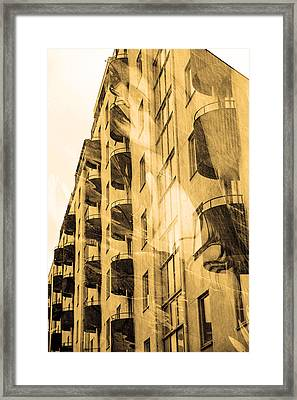 The Building And The Mystery Woman Framed Print