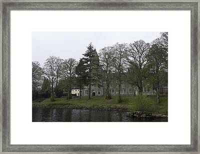 The Building Of The St Benedict Abbey At The Shore Of Loch Ness Framed Print