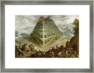 The Building Of The Tower Of Babel Framed Print