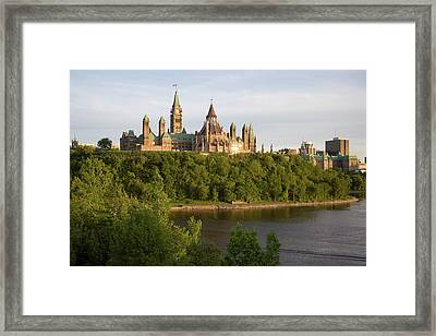 The Buildings Of Parliament Hill, Along Framed Print