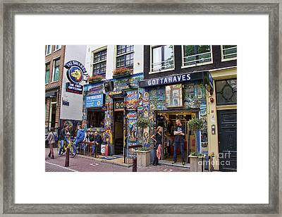 The Bulldog Coffee Shop - Amsterdam Framed Print