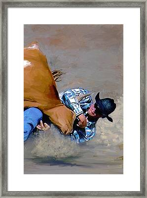 The Bulldogger Framed Print by G Cannon