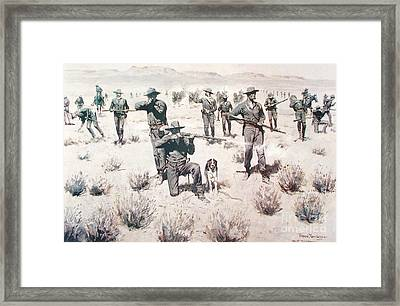 The Bullets Kicked Up Dust Framed Print by Pg Reproductions