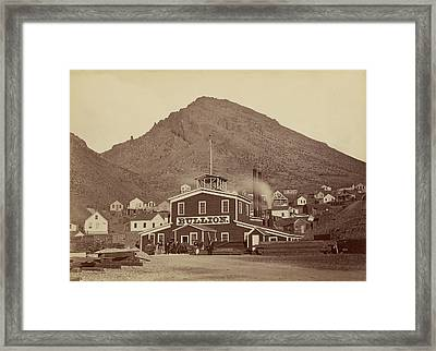 The Bullion Mine, Virginia City, Nevada Carleton Watkins Framed Print