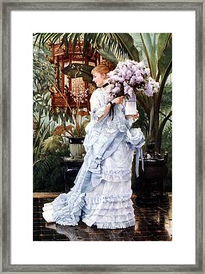The Bunch Of Lilacs Framed Print by James Jacques Joseph Tissot