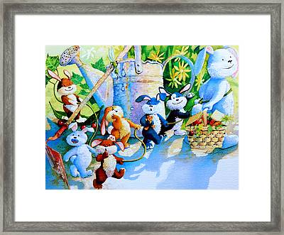 The Bunny Trail Framed Print by Hanne Lore Koehler