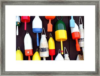 The Buoys Of Maine  Framed Print by Archie Reyes