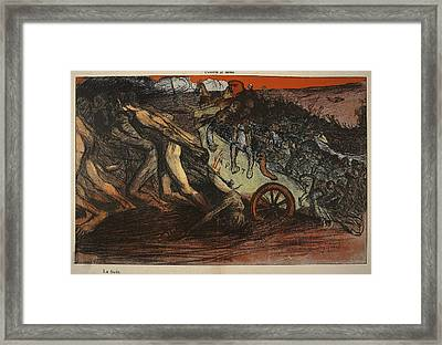 The Burden Of Taxation, Illustration Framed Print by Eugene Cadel