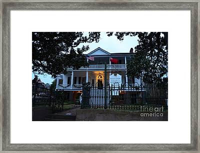 The Burgwin Wright House At Night Framed Print