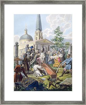 The Burial, 1812-13 Framed Print by E. Karnejeff