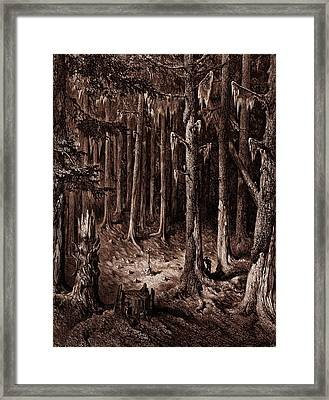 The Burial-ground In The Fir-forest Framed Print