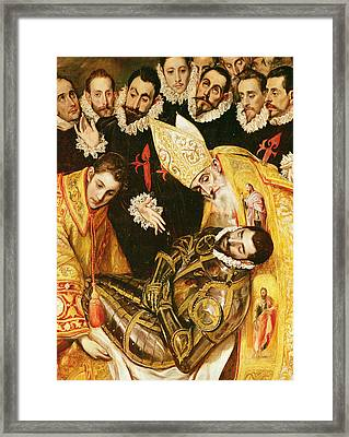 The Burial Of Count Orgaz Framed Print by El Greco Domenico Theotocopuli