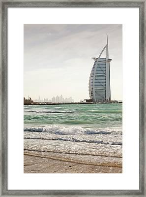 The Burj Al Arab Hotel Framed Print