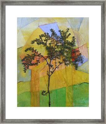 The Burn - Panel II Framed Print by Sandra Gail Teichmann-Hillesheim