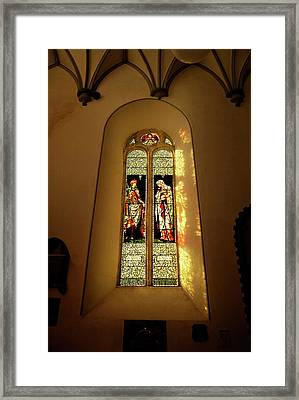 The Burne-jones Stained Glass Window Framed Print by Panoramic Images