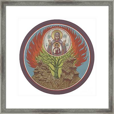 Framed Print featuring the painting The Burning Bush 249 by William Hart McNichols