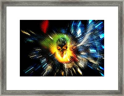 The Burning Framed Print by Frederico Borges